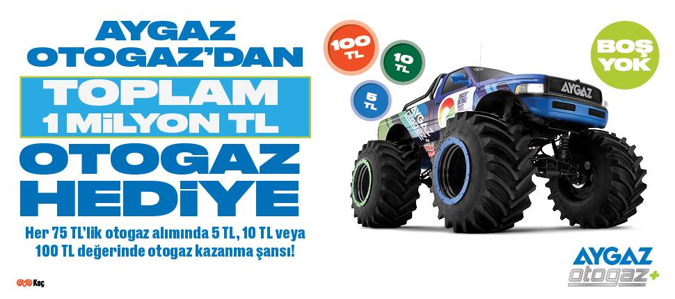 Aygaz Otogaz'dan toplam 1 milyon TL'lik otogaz hediye